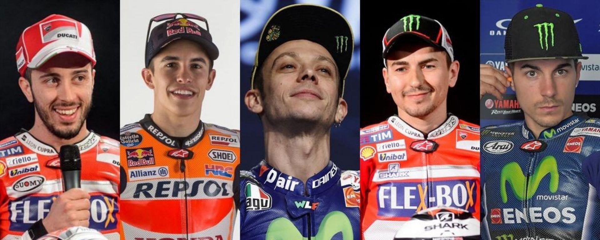 Dovizioso, Marquez, Rossi, Lorenzo, Vinales - Moto GP 2018