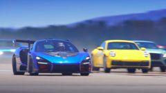 Drag race a 12: la protagonista assoluta della sfida, la McLaren Senna