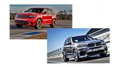 Drag race: Jeep Grand Cherokee Trackhawk vs BMW X5 M. La sfida