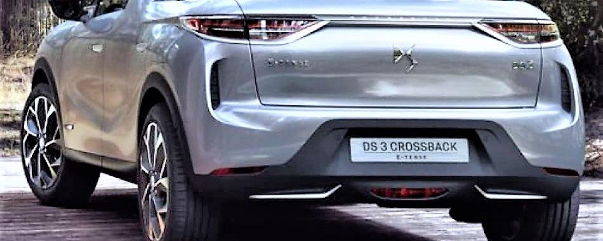 DS 3 Crossback: il posteriore