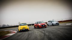 DS3 Performance vs Abarth 595 competizione vs Ford Fiesta ST200: 588 cv in totale