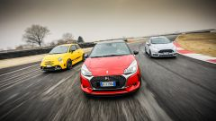 DS3 Performance vs Abarth 595 competizione vs Ford Fiesta ST200: i frontali