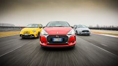 DS3 Performance vs Abarth 595 competizione vs Ford Fiesta ST200: la francese conta su 208 cv
