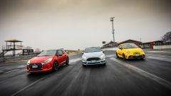 DS3 Performance vs Abarth 595 competizione vs Ford Fiesta ST200: l'americana ha 200 cv tondi tondi