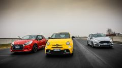 DS3 Performance vs Abarth 595 competizione vs Ford Fiesta ST200: l'italiana ha 180 cv