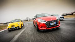 DS3 Performance vs Abarth 595 competizione vs Ford Fiesta ST200: stile differente per le 3 sfidanti