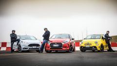 DS3 Performance vs Abarth 595 competizione vs Ford Fiesta ST200: tutto pronto per la sfida