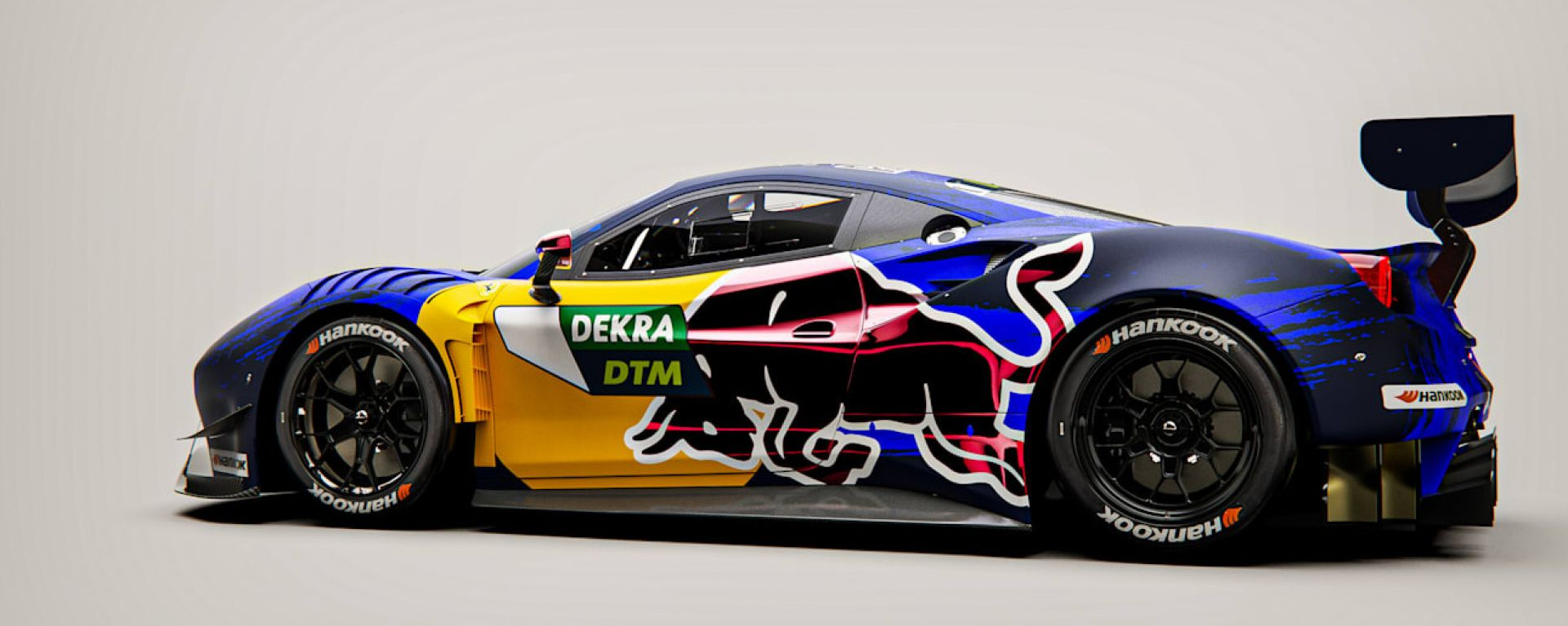 DTM 2021: la Ferrari 488 GT3 EVO con livrea Red Bull
