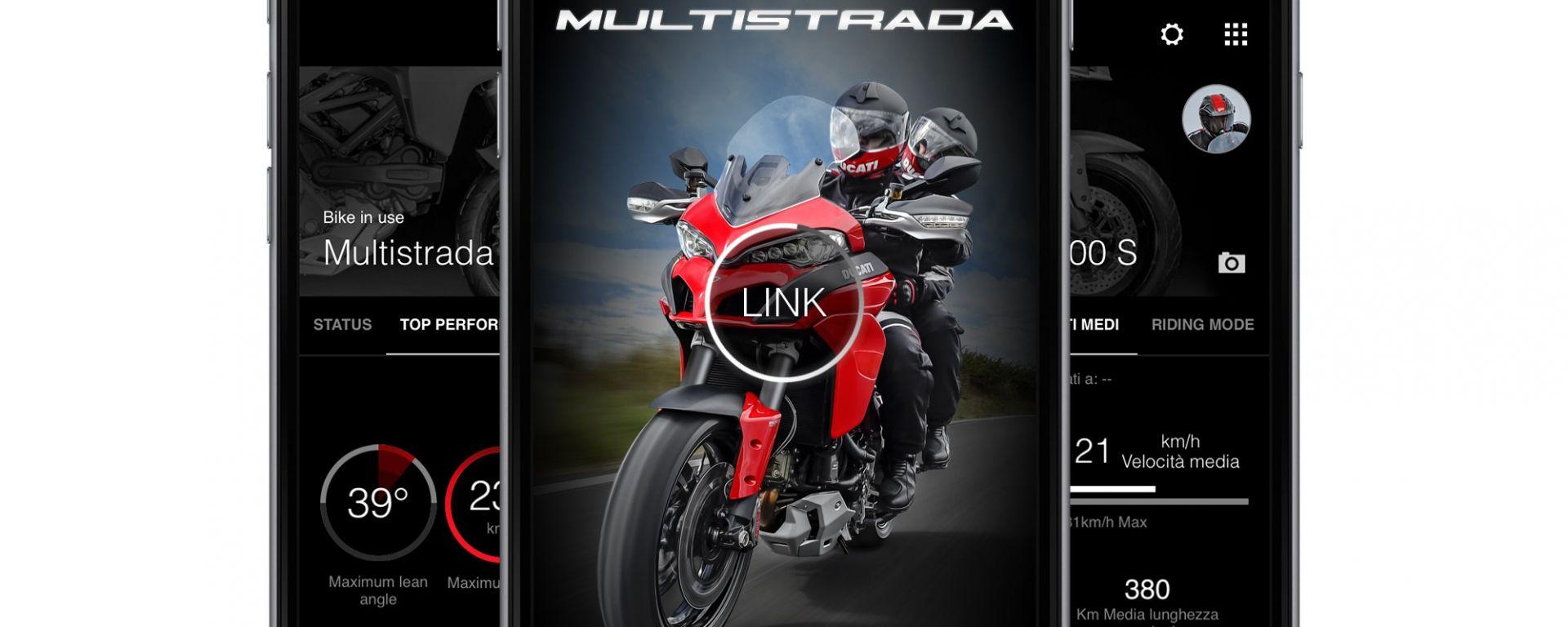 Ducati: arriva l'app Multistrada Link