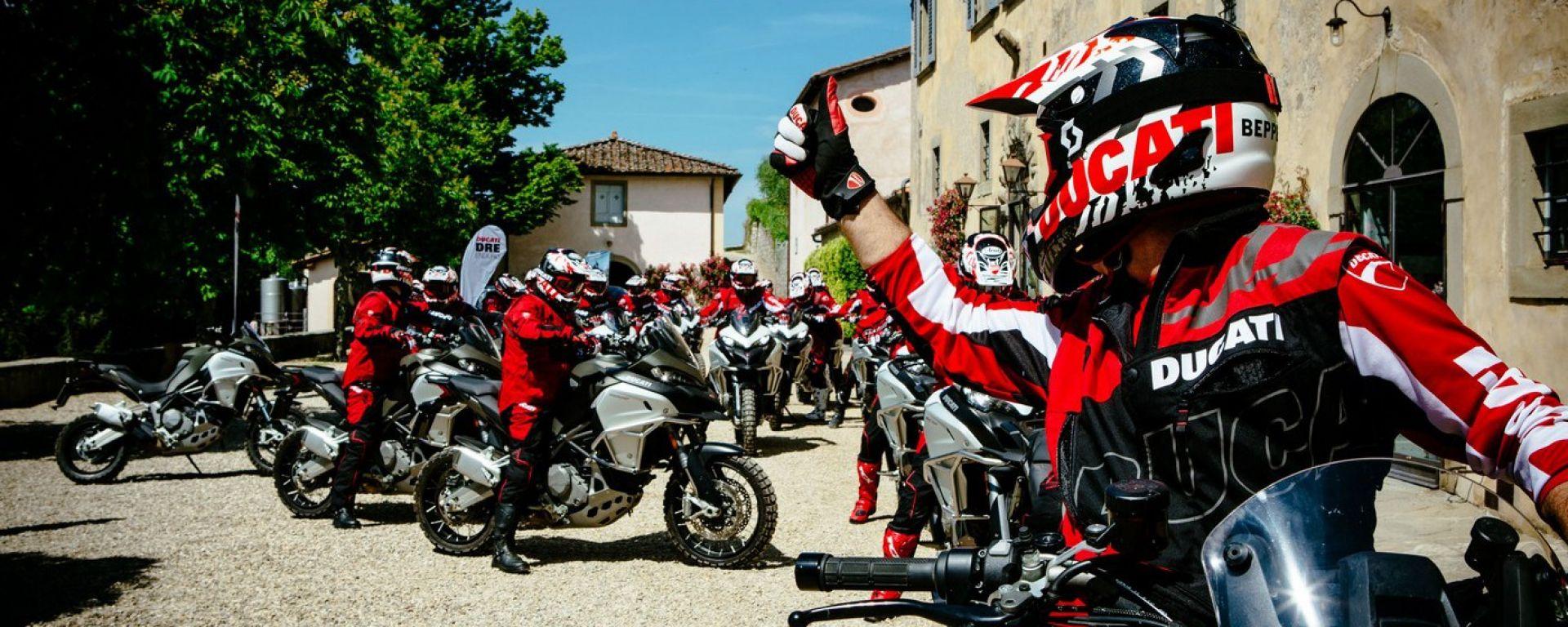 Ducati DRE Enduro e Multistrada 1200: a scuola di offroad
