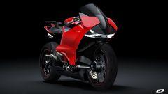 Ducati elettrica: il concept Ducati Zero di Suraj Tiwari, vista 3/4 anteriore