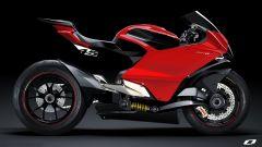 Ducati elettrica: il concept Ducati Zero di Suraj Tiwari, vista laterale