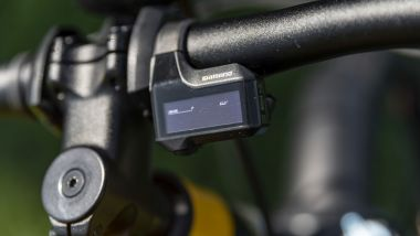 Ducati eScrambler: piccolo ma completo il display sul manubrio