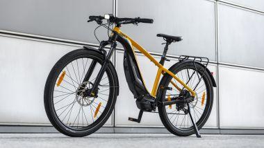 Ducati eScrambler: visuale di 3/4 anteriore