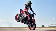 Ducati Hypermotard 950 RVE in stoppie