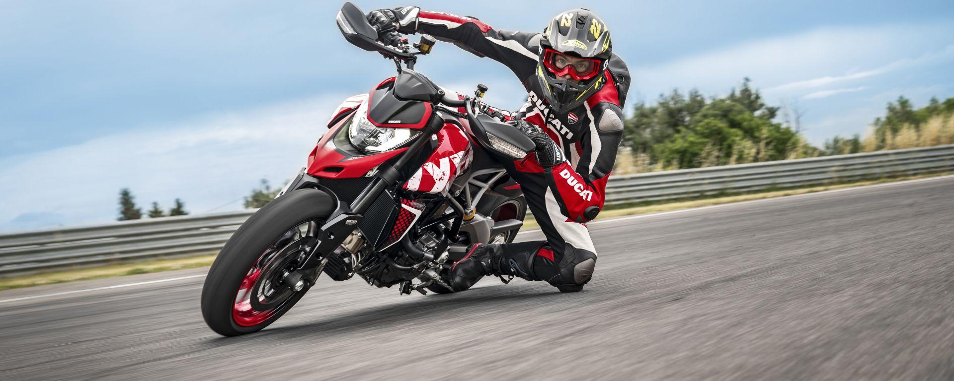 Ducati Hypermotard 950 RVE: nuova livrea e Quick Shift Up and Down in più rispetto alla standard