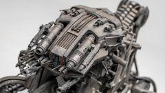 Ducati Hypermotard Terminator Salvation 2009: un dettaglio della cyber-moto