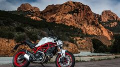 Ducati Monster 797, il telaio a traliccio è in un pezzo unico d'acciaio