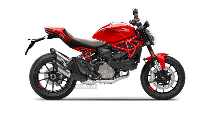 Ducati Monster con il telaio a traliccio (by Kardesign)
