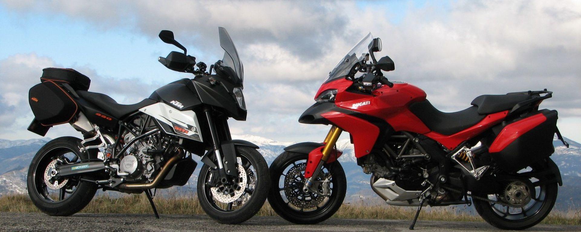 Ducati Multistrada 1200 vs KTM 990 SMT LE
