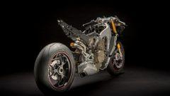 Ducati Panigale V4: il telaio, vista 3/4 posteriore