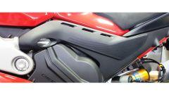 Ducati Panigale V4, le paratie para calore sotto la sella non c'erano a EICMA, problemi di calore in vista?
