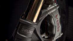 Ducati Panigale V4 S: dettaglio della forcella Ohlins