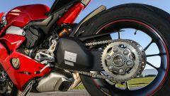 Ducati Panigale V4s: dettaglio del forcellone posteriore