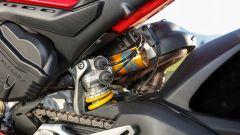 Ducati Panigale V4s: dettaglio del mono Ohlins semiattivo