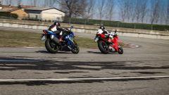 Ducati Panigale V4s e Suzuki GSX-R1000R in pista al Tazio Nuvolari