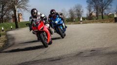 Ducati Panigale V4s vs Suzuki GSX-R1000R al Cavatappi di Laguna Seca (Cervesina)