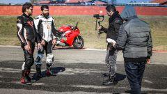 Ducati Panigale V4s vs Suzuki GSX-R1000R: durante le riprese