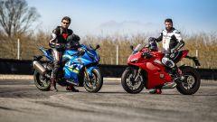 Ducati Panigale V4s vs Suzuki GSX-R1000R: i belli e le bestie
