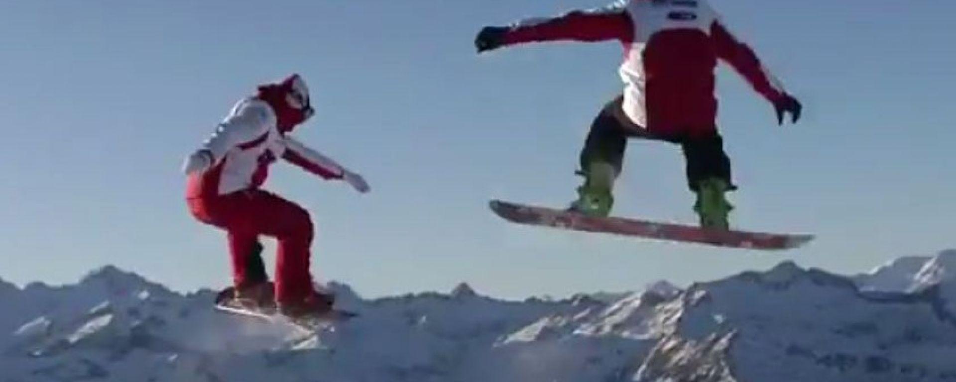 Ducati: Rossi e Hayden a tutta birra sulla neve