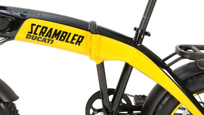 Ducati SCR-E: il logo Scrambler sul telaio