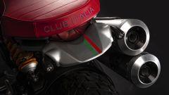 Ducati Scrambler Club Italia: la cucitura sulla parte posteriore della sella