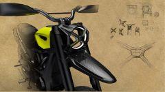 Ducati Scrambler del futuro secondo Peter Herkins: dettaglio del faro anteriore