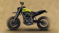 Ducati Scrambler del futuro secondo Peter Herkins: vista laterale