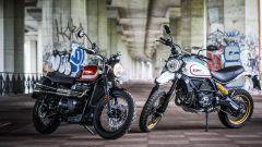 Ducati Scrambler Desert Sled sfida Triumph Street Scrambler, da ferme stuzzicano