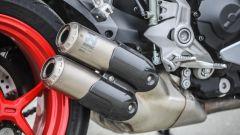 Ducati Supersport S: gli scarichi Akrapovic opzionali