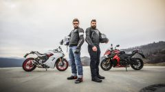 Ducati Supersport S, Suzuki GSX-S1000F e due tester surgelati