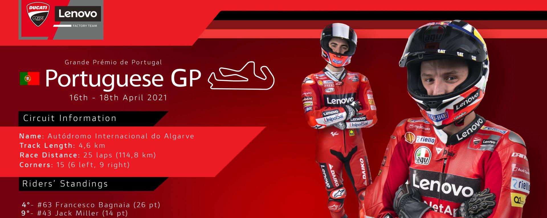 Ducati Team, Francesco Bagnaia e Jack Miller pronti al GP del Portogallo 2021