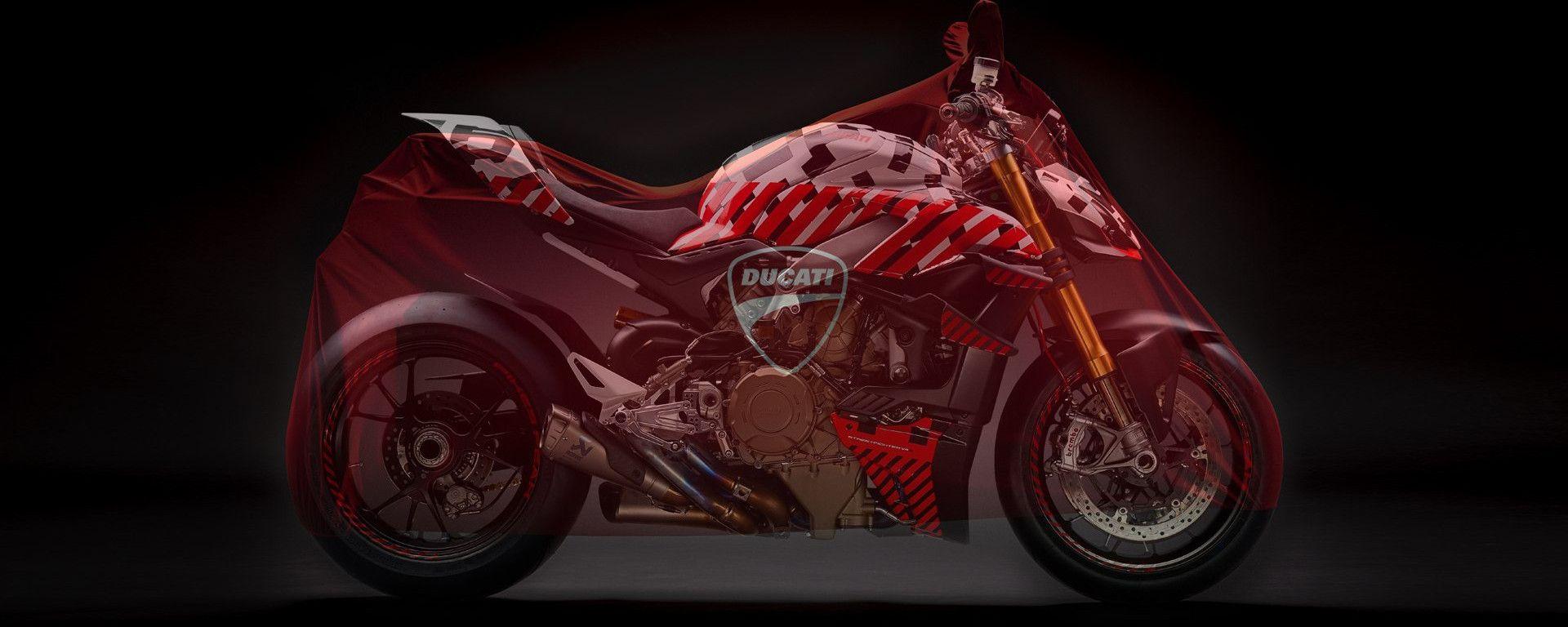 Ducati World Premiere: è la Ducati Streetfighter V4 la moto sotto al telo?