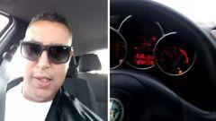 Due fotogrammi del video postato su Facebook da Yassine Harchi