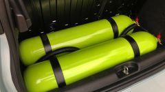 Due serbatoi contengono oltre 7 kg di metano ciascuno, per percorrenze dai 260 ai 300 km