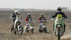 Due Vespa Piaggio in un rally nel deserto