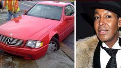 Dwight Eubanks e la sua Mercedes nel cemento