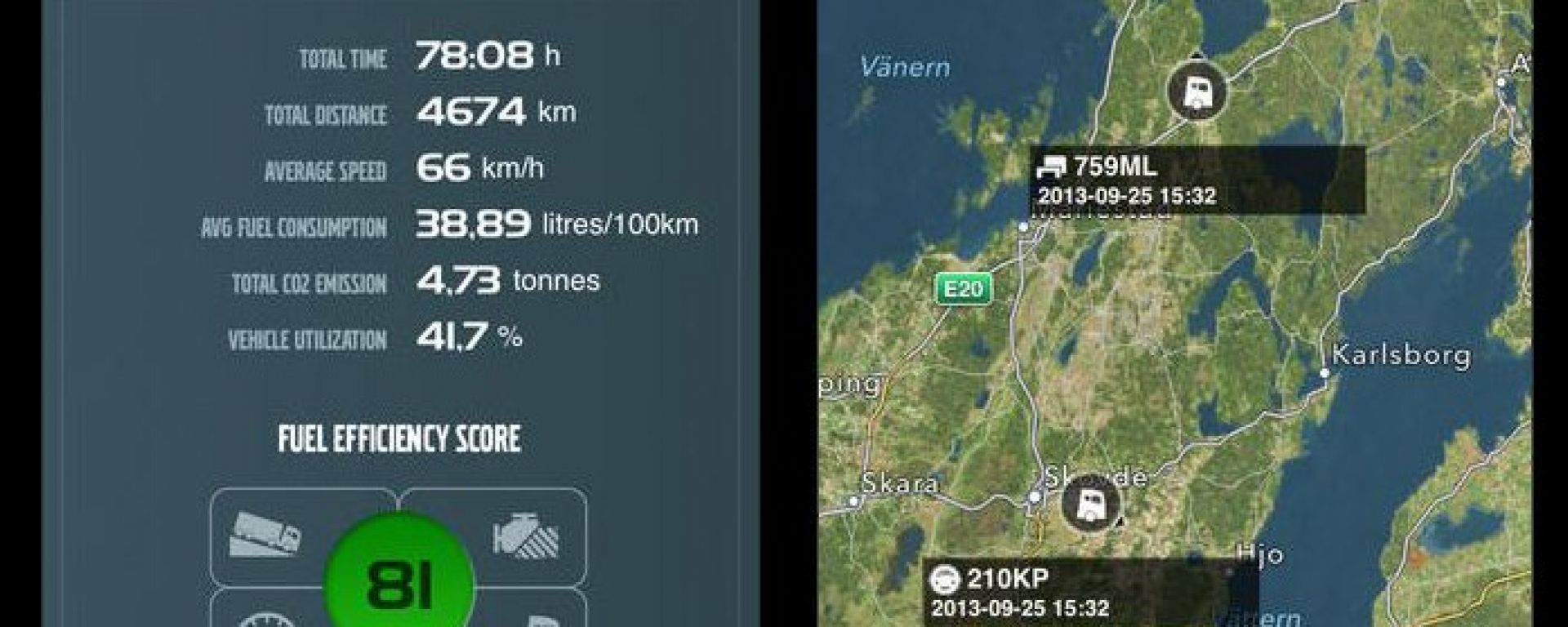 Dynafleet App di Volvo Trucks