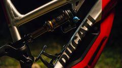 E-bike Ducati MIG-RR, dettaglio dell'ammortizzatore posteriore