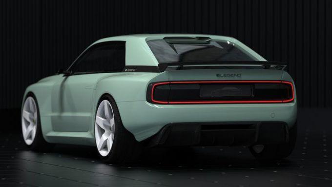 E-Legend EL1: il rendering del concept elettrico che replica l'Audi quattro